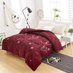 被子厂家批发新款床上用品冬季被加厚保暖蓬松红色复古羽丝绒被子 红色 200*230