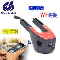深圳工厂批发 隐藏式行车记录仪 高清带WIFI手机APP无线操控 单镜头