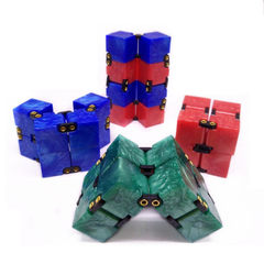 New acrylic marble texture smooth and unlimited pressure reduction magic cube fidgetcube pressure re blue