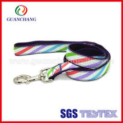 Dongguan guanchang custom-made pet dog traction with polyester dog rope pet traction rope pet suppli on-demand 2.5 * 120 cm