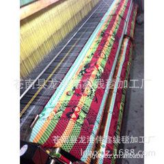 供应龙港线毯 传统八色双喜熊猫线毯批发 红色 160*200