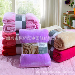 Pure color flannel blanket coral-wool blanket gift blanket manufacturers direct wholesale plain blan red