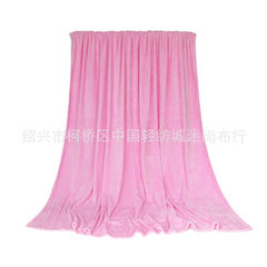 Manufacturer produces custom - made clothing fabric flannel pure color double - side weft knitting q red