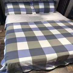 无印风良品 四件套水洗棉四件套床上用品床单床笠四件套微商代理 标准200*230 床单245*245cm