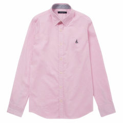 Wang yuan is the same style of dress pink shirt for men and women pink s.