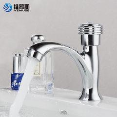 Zinc alloy single cold face basin faucet hand washing basin faucet bathroom manufacturer project rec Vase single cooling (copper core rod)