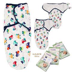 柔飞新款婴儿襁褓睡袋婴儿包巾包布 春夏全棉襁褓多款混批 Dc0162x28cm 62x28cm