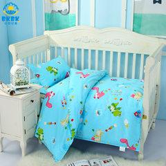 幼儿园被子三件套 纯棉婴儿床上用品 儿童午睡被褥三件套批发 简约三件套