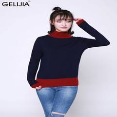 In autumn and winter 2017, the new semi-turtleneck pullover women`s pullover woolen sweater will be  black m