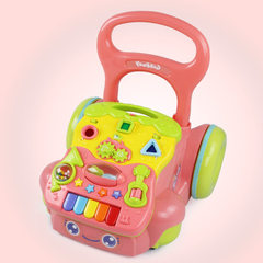 Music baby cereal baby toy walker 6 to 18 months children anti-rollover multi-purpose trolley Men learn to walk