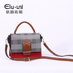 Handbag wholesale ladies leisure color small box multifunctional small grain PU vertical model lugga Caramel kale green pink apricot