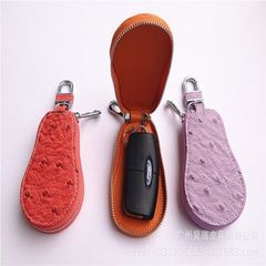 Cross border special for camel bird pattern car key pack men cowhide car key pack leather remote con yellow