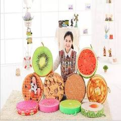 Creative simulation of 3D fruit cushion watermelon plush toys cushion kiwi fruit sofa pillow birthda 1 38 * 38