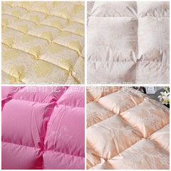 Super soft 80 imitation silk cotton satin damask printed flexor silk anti-feather duvet duvet quilt  R1