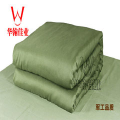 Huahan factory wholesale student workers dormitory single military green bedclothes lu kong labor pr Army green 120cm*200cm (broadening type)