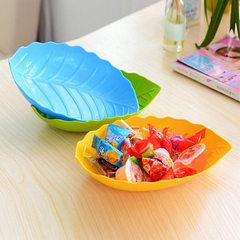 创意树叶水果盘 叶子形零食干果盘凉菜碟子 厨房用品工厂 颜色混发