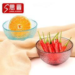 新款热销 碗 雨滴小碗 玻璃碗 日本餐具 厨房用品 超市彩色碗批发 淡蓝色W-167