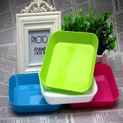 Small dry fruit snacks fruit classification fruit tray kitchen utensils candy color fashion plate red 15 * 15 cm
