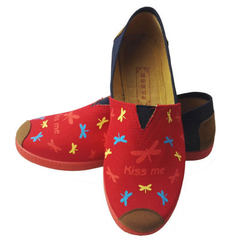 The new Thomas Mary cloth shoes of changyu DE old Beijing cloth shoe lady`s casual shoe shallow mout red 34