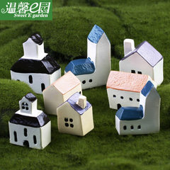 Castle church moss micro-landscape decoration Mediterranean style Zakka house creative crafts A small castle