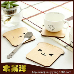 Zakka creative gift cup mat wooden insulation cup mat practical cup pad wholesale m-9125 The squirrel