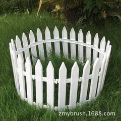 Christmas tree decorations white plastic fence courtyard garden fence fence fence fence wholesale Color: white