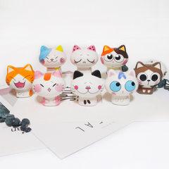 日式招财猫陶瓷 陶瓷工艺品创意家居车载陶瓷猫 卖萌招财猫摆件款 1号
