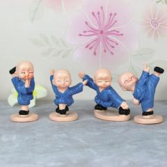 Factory direct sale new four young monk shaolin kungfu boy creative resin crafts home furnishing gif 5.5 * 7.5 * 4