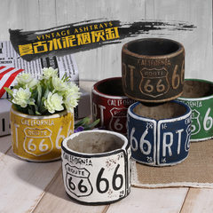 Retrograde cement ashtray office bar and cafe furniture creative soft decoration American industrial Different colors of the same style mixed batch, different styles of each type to achieve the bulk delivery