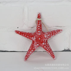 Mediterranean simulation resin with rope king mantou starfish home decoration wall paste aquarium aq red 13 cm
