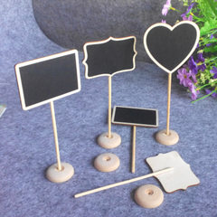 Cross-border creative small blackboard wooden crafts home party decoration wedding decoration blackb heart