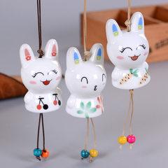小兔子陶瓷风铃 汽车装饰挂饰生日情侣赠品房间挂件装饰品批发 款式/颜色混发
