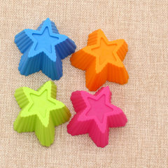 Manufacturer wholesale small star - shaped cake pudding ice cube multi - functional mold DIY kitchen Upper 7x7cm lower 4.5x4.5cm