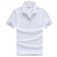 Customized T-shirt, lapel POLO advertising cultural shirt team work clothes customization DIY printi white m