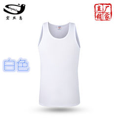 Spring and summer 2018 new men`s vest elastic large size Y word vest pure cotton breathable sports v white l