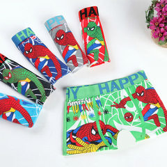Children`s underpants printed cartoon boys` underpants quadrangle pants tarmac A pack of 12 pieces, 3 yards and 6 colors