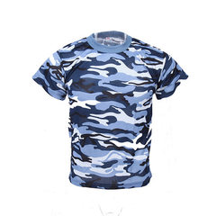 2018 summer camouflage training clothing camouflage color short sleeve T-shirt students outdoor mili Dark blue 160 (105).