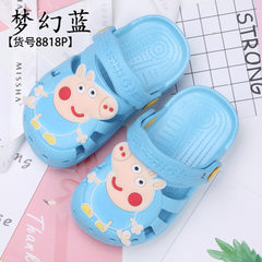 Factory direct sale piggy page George children`s hole shoes cartoon boys and girls baby toddlers sho [8818P] dream blue 14 yards [inside length: 13cm]