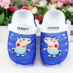 2018 new piggy Paige girls hole sandal sandal sandal boys sandal children`s slippers manufacturer wh Sapphire blue 24
