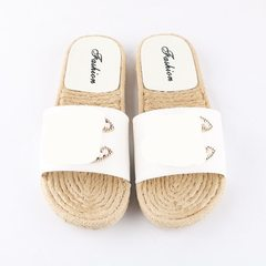 2018 new style cool slippers small fragrant slippers manufacturers direct sales anti-skid leisure we white 36