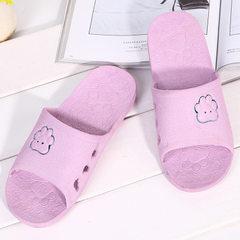 夏季PVC浴室拖鞋家居卡通情侣凉拖室内可爱洗澡防滑凉鞋女地摊 紫色 36-37女款