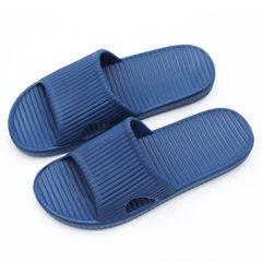 New four seasons bathroom lovers slippers household tasteless men and women indoor summer Eva slippe Navy blue 36-37 (240 mm)