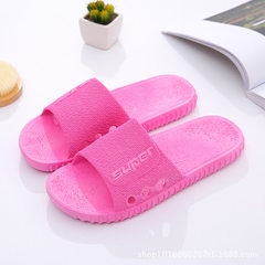 Summer cool slippers women`s home anti-slip slippers summer women`s slippers bathroom slippers indoo Navy blue 36 and 37