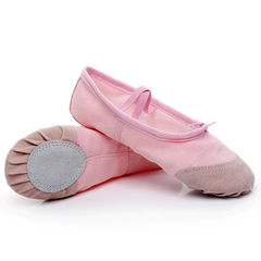 Spring and summer style children`s dancing shoes girls` soft bottom training shoes adult ballet flat white 34