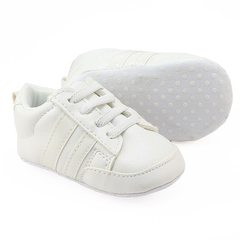 Emele 0-1 - year - old baby shoes baby shoes baby sneakers soft-sole shoes All white In the 11 cm long