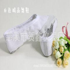 成人幼儿童舞蹈鞋软底练功鞋女童猫爪鞋跳舞鞋帆布瑜伽鞋芭蕾舞鞋 白色 36
