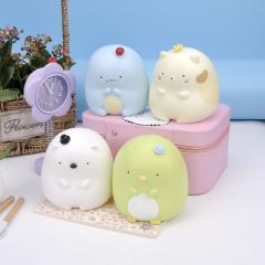 Three creative cartoon eye dog resin piggy bank plastic coated doll cute league child household gift L0101 Colors mixed hair