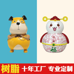 Resin piggy bank paint customized children creative cartoon large and medium-sized cute dog money st Contact customer service for customized products