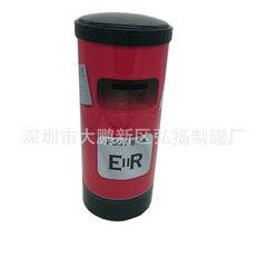 东莞工厂定制邮筒零钱罐 圆形金属储蓄罐 新款创意铁皮存钱罐 105*205mm