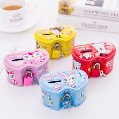 Creative belt lock candy shape children`s piggy bank piggy bank children`s day gift gift metal Random delivery